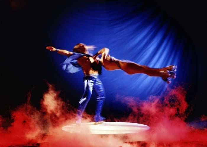 Rollschuh Akrobatik Duo Giurintano - Firmenevents und Geburtstagsfeiern