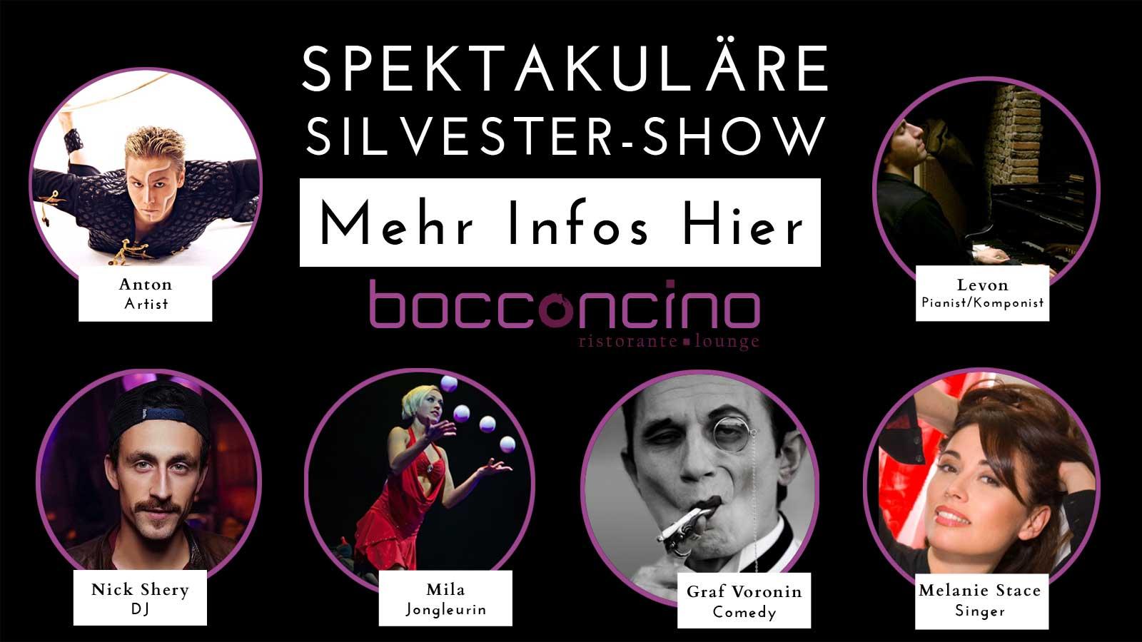 silvesterkarte eventprod - SILVESTER GALA SHOW 2017 IM BOCCONCINO DÜSSELDORF
