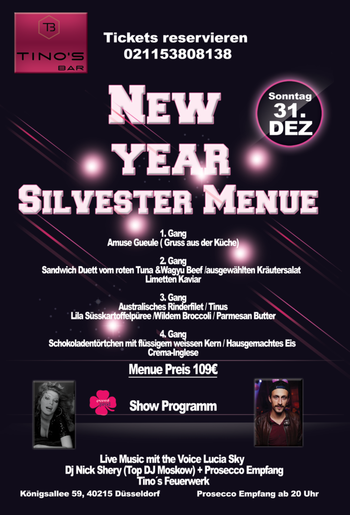 Tino´sNew Year Party Flyer 2 696x1024 - SILVESTER GALA SHOW 2018 IM TINO'S BAR